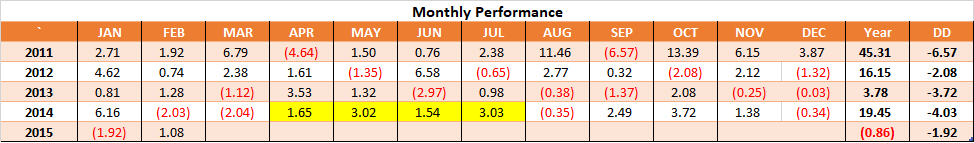 Monthly Performance - Timing 2